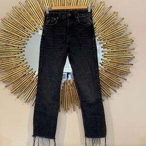 Zara Black High Waisted Boyfriend Jeans
